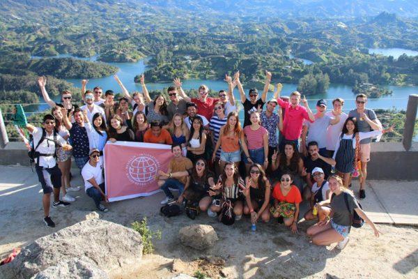 Estudiantes extranjeros de intercambio en Medellín